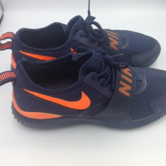 blue and orange gym shoes